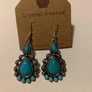 Jewelry - Turquoise Earrings Western Tribal